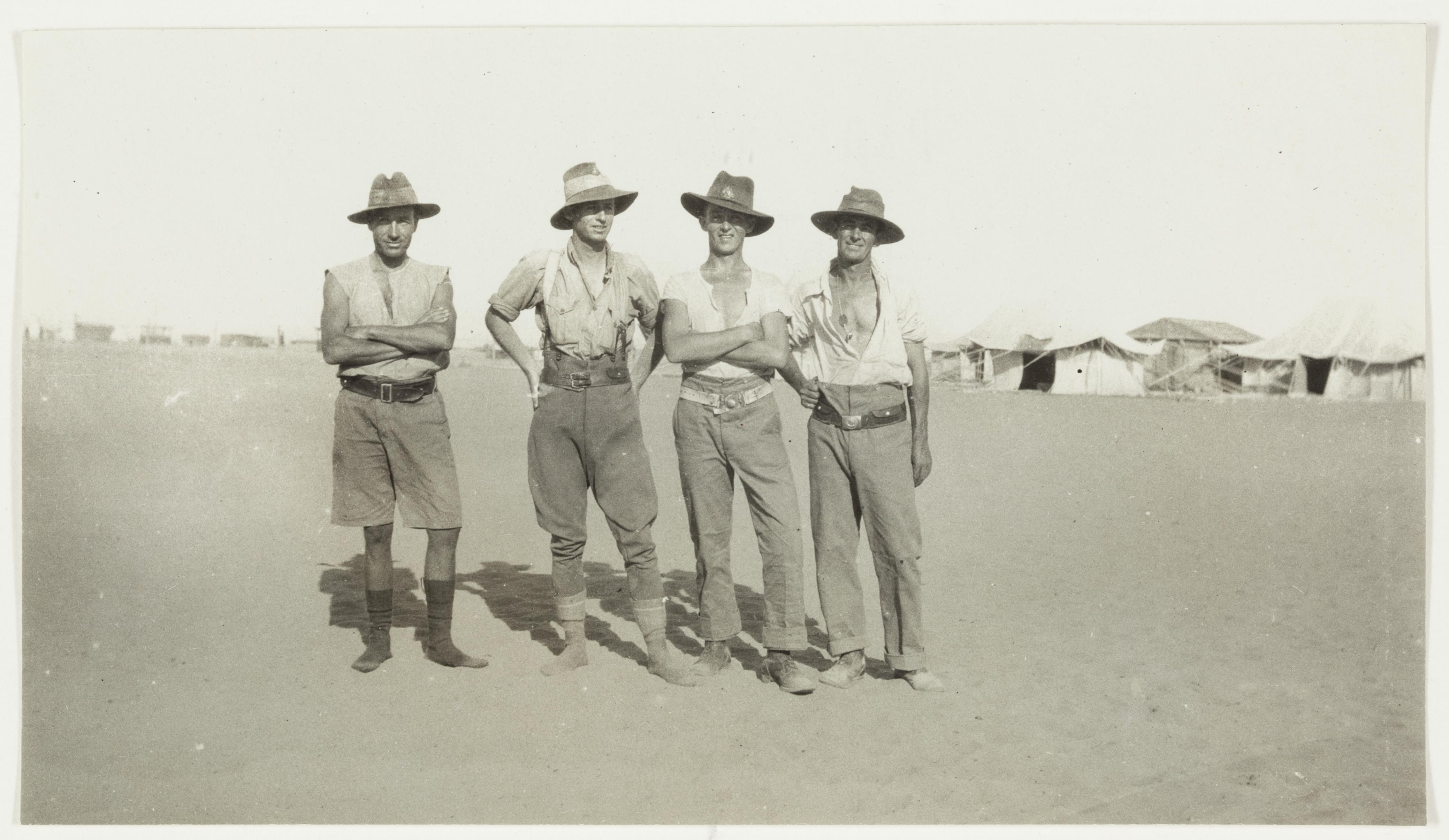 Trooper Finnichie and his mates, 2nd Brigade, 6th Light Horse  by J.F. Smith of the 7th Light Horse in Egypt and Palestine, c. 1914-1918