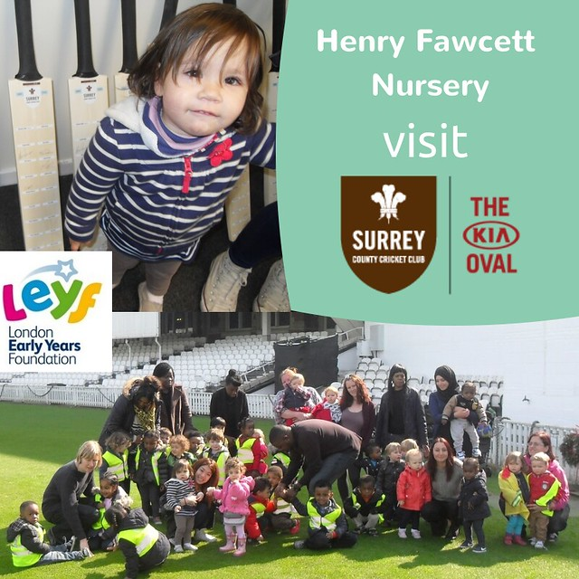 Henry Fawcett Nursery visit The Oval cricket club