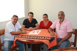 Vereador Simei Ferreira, de São Sebastião, tem reunião com direção estadual do Solidariedade