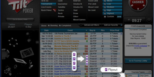 Why Full Tilt Poker's new Flipout Tournaments are full of excitement and innovation