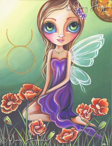 """Taurus"" Zodiac Fairy Painting by Jaz Higgins"