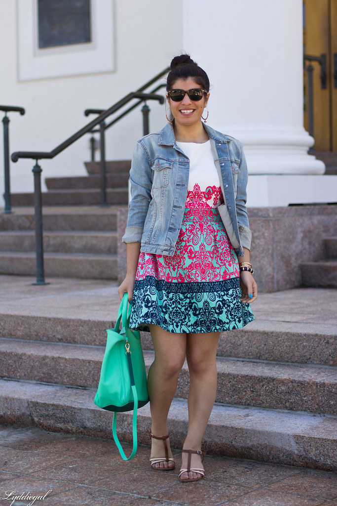 printed dress, denim jacket-3.jpg