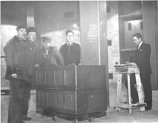 Photograph of U.S. Food Administration Records Being Received at the National Archives Building, 12/21/1935