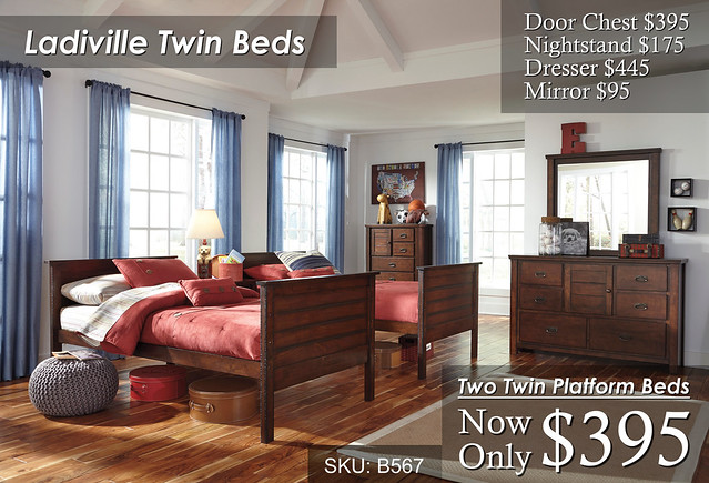 Ladiville Twin Beds