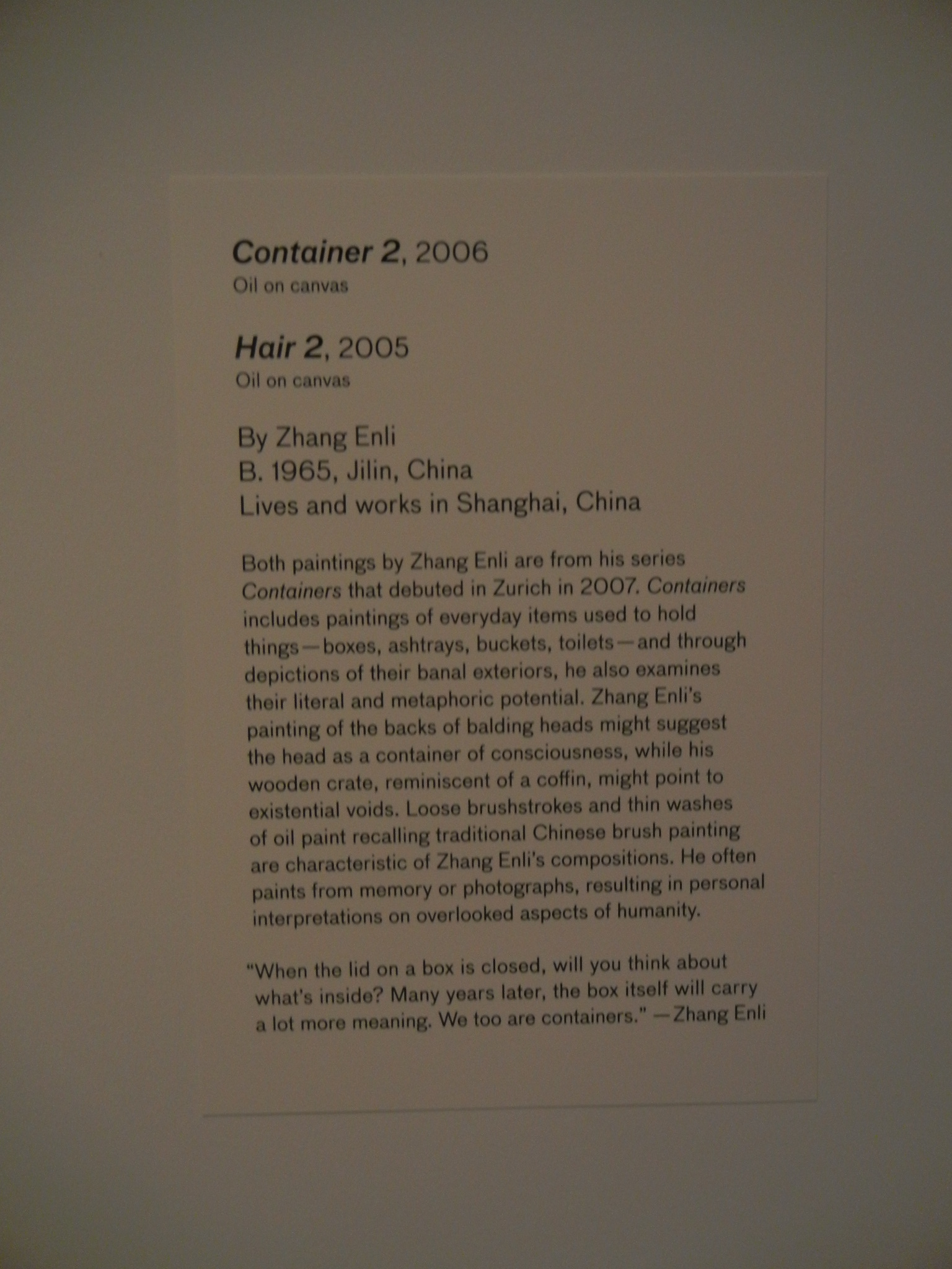 DSCN4630 _ 28 Chinese - Container 2, 2006, Enli ZHANG, Asian Art Museum