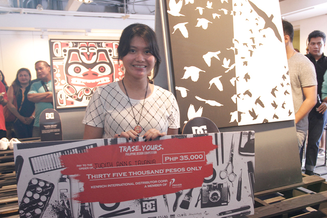 (2)1st Philippine winner of the DC Trase Yours Design Competition Event Judith Ann S. Talania