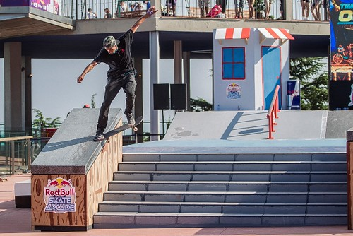 Christian Estrada of Spain  during the Red Bull Skate Arcade World Final in Barcelona, Spain on September 12th, 2014