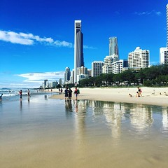 What #rain? #goldcoat #bluesky #sunshine #goldcoast #beachlife #beachwalk #ocean #surfersparadise