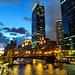 Chicago River, after dark, October 2016-napellenző