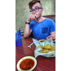 Anthony, chips and salsa... #phonepic #chipsandsalsa #zte #axon7