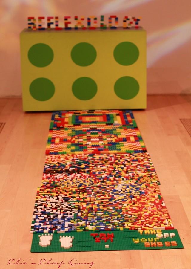 Art of the Brick refloxology by Nathan Sawaya by Chic n Cheap Living