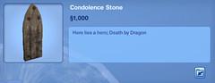 Condolence Stone