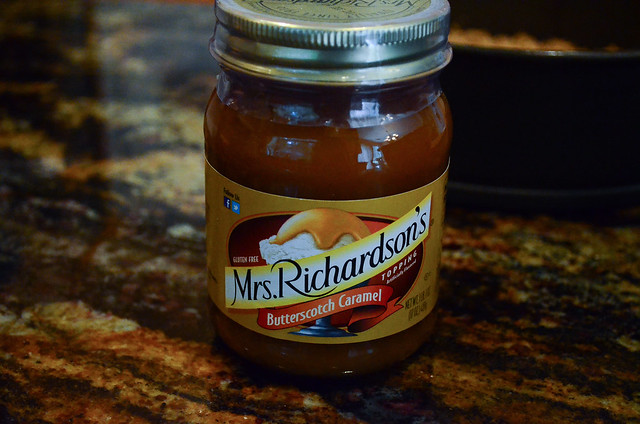A jar of butterscotch caramel.