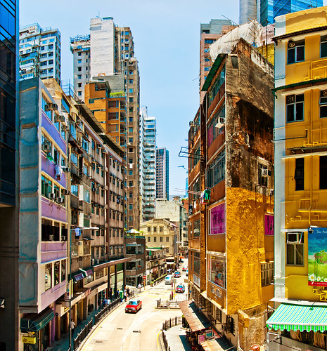 china street city travel summer urban window shop wall skyline architecture modern skyscraper geotagged hongkong store interestingness nikon asia pattern cityscape view skyscrapers traffic geometry perspective overcast pedestrian canyon hong kong explore metropolis 2012 urbanlandscape wanchai toleman explored d5000 tolemanhart