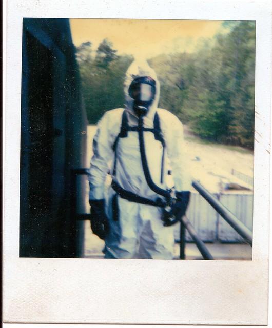 Hazmat Suit Polaroid