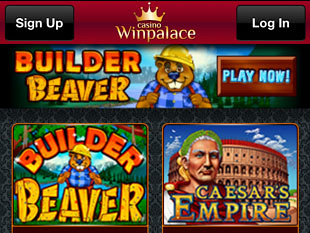 WinPalace Mobile Casino Home