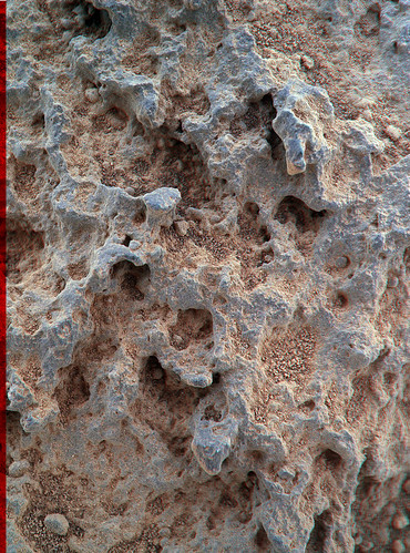 Curiosity sol 323 MAHLI anaglyph