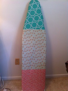 New ironing board cover using Fresh Squeezed Fabric's tutorial