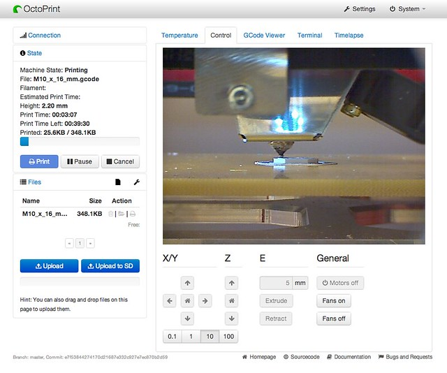 OctoPrint - 3D print server on Raspberry Pi - Screenshot v02.png