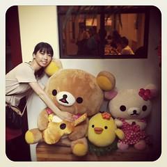 リラックマと記念撮影! #リラックマカフェ ものすごい癒された〜 #relax #bear #cute