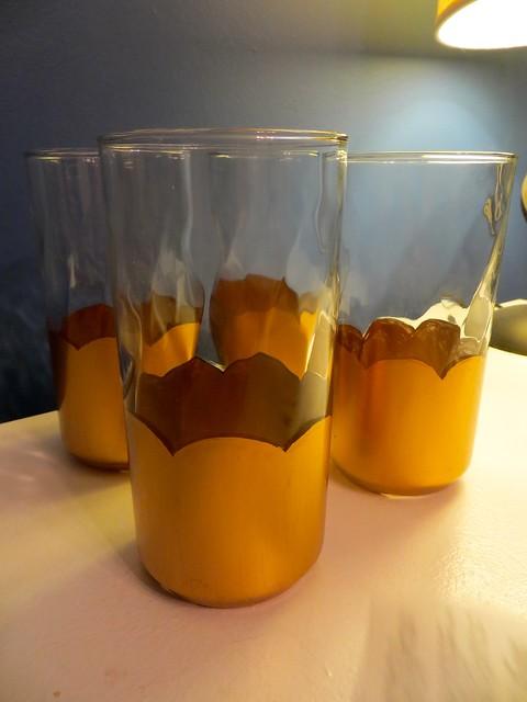 gilded glasses