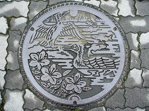 Ōzu, Ehime manhole cover (愛媛県大洲市のマンホール)