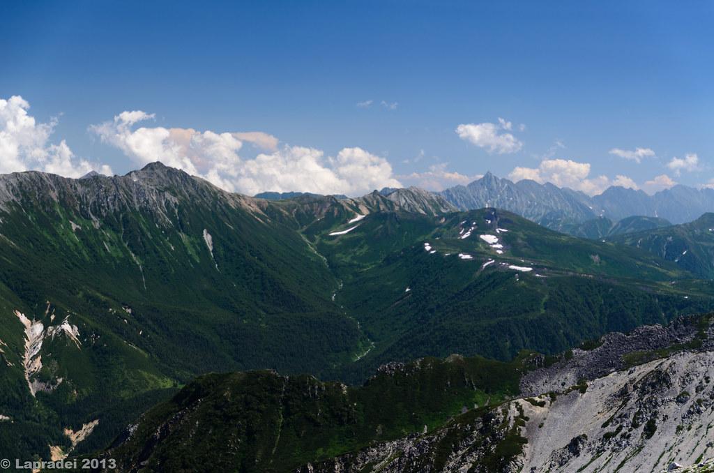 20130812 水晶岳、鷲羽岳、槍ヶ岳