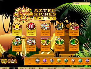 Aztec Riches Casino Lobby