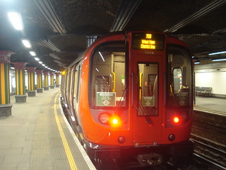 S7 21318 on District Line (Training), Bow Road