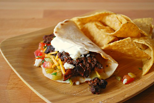 BBQ Beef & Chorizo Tacos