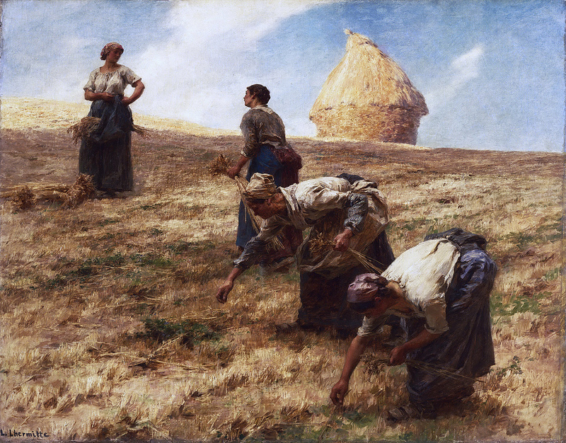 The Gleaners Léon-Augustin Lhermitte (French 1844-1925) Oil on canvas , circa 1887. Philadelphia Museum of Art