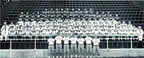 U.S. Coast Guard Academy Bears 1963 Champions Football Team. U.S. Coast Guard photograph.
