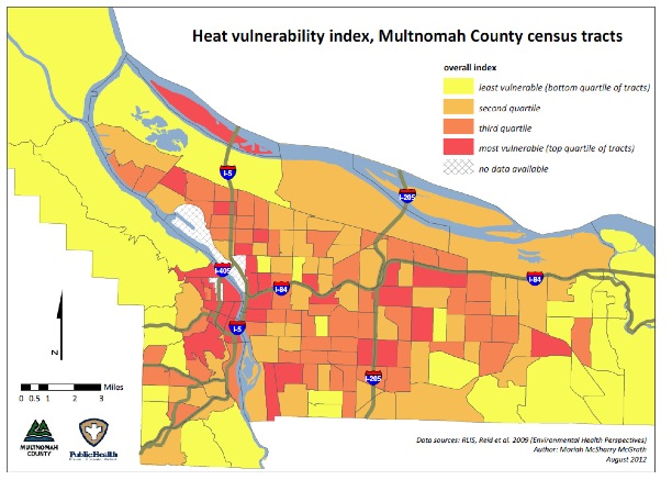 heat vulnerability map