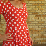 Red Velvet Red Polka Dots