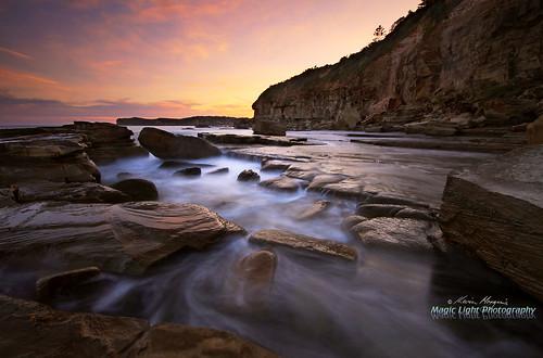 sunset seascape landscape australia centralcoast terrigal theskillion