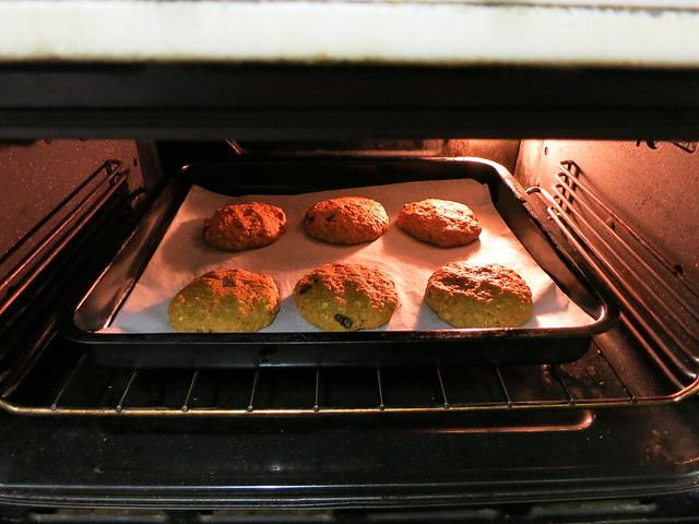 pumpkin and raisin spiced cookies
