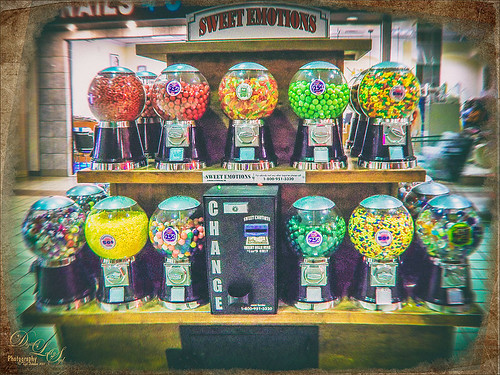 Toy Camera processing on gumball machines image