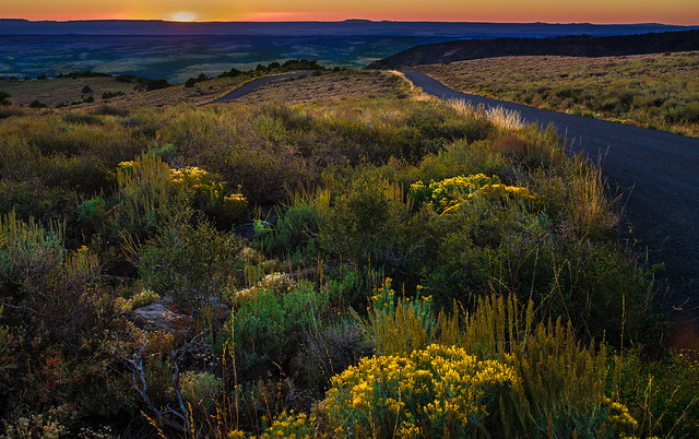 Sunset from the southwest of Steens Mountain