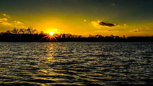 sunset lake water wisconsin unitedstates ottawa ottawalake dousman