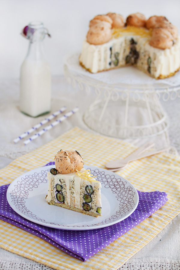 lemon poppy blueberry cake