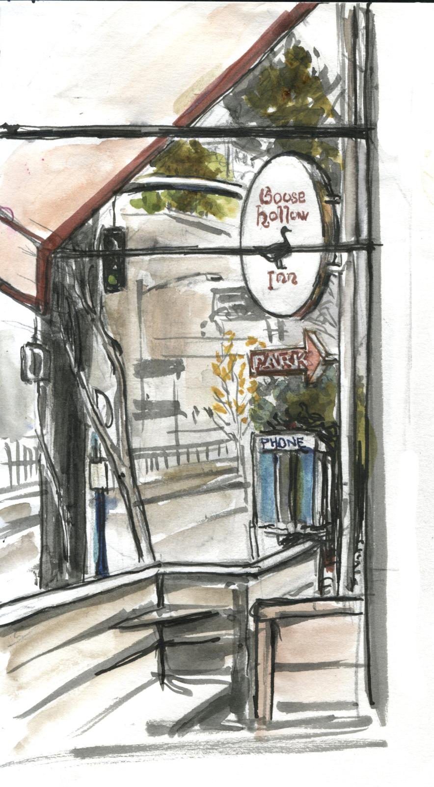 Goose Hollow Sketchcrawl / NaNoDrawMo #16