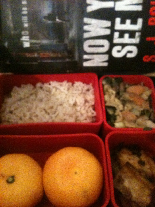 Book and lunch box