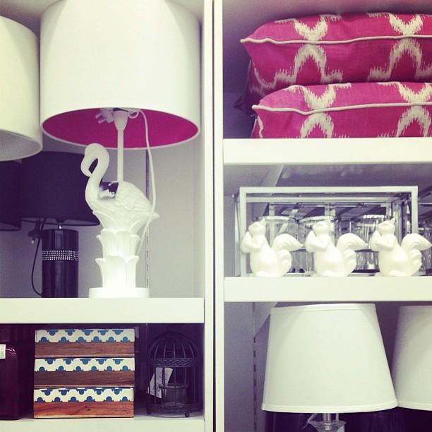 Loving this lamp! #flamingo #lamp #interiors