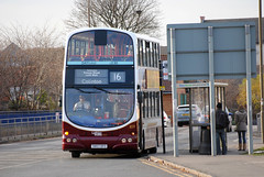 This bus was new to Lothian Buses as 859 in 2007, Seen here on a cold sunny day at West Granton....
