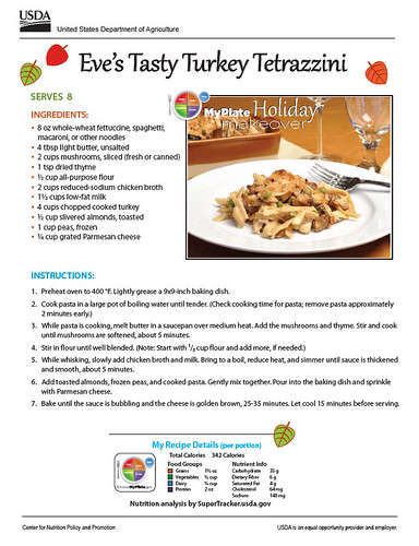 Eve's Tasty Turkey Tetrazzini recipe