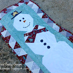 Snowman Table Runner, A Free Foundation Paper Piecing Pattern