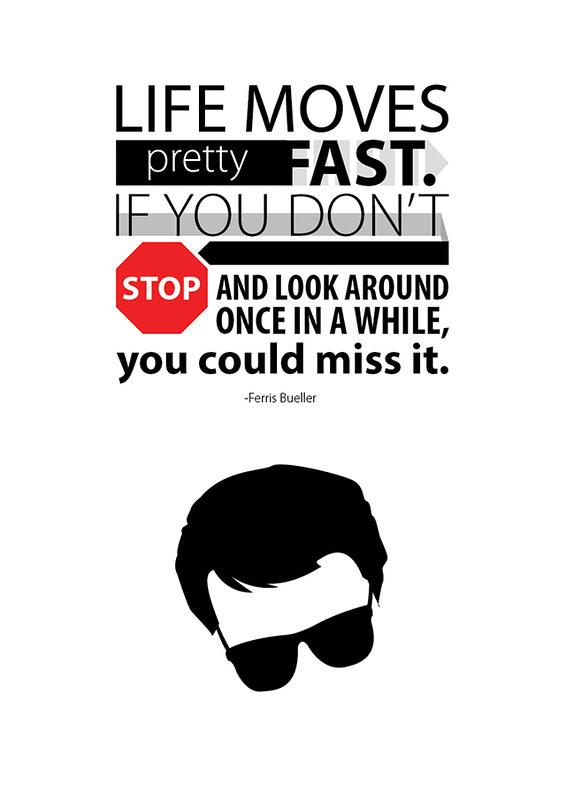 Ferris Bueller typography poster