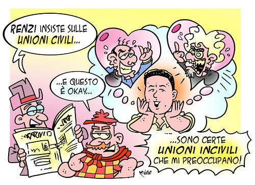 Renzi & le Unioni by Moise-Creativo Galattico