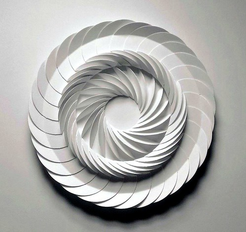 Paper Sculpture Layered Circles