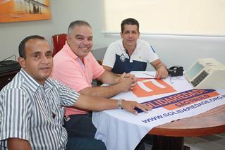 Clodoaldo Maciel, o Tiguês, com David Martins e Fábio Pereira